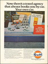 1969 Vintage ad for Gulf`Travel Agency Retro Sign Holiday Gulf Tourgide   052417