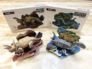 3D Puzzles For Kids Dinosaur Triceraptos & Plesiosaur Sets Of Two