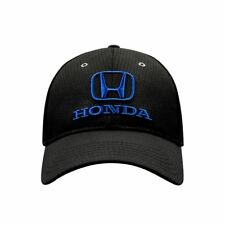 Honda Baseball Hat Ball Cap ~ Black w/ Blue Embroidered Logo ~ Official Licensed