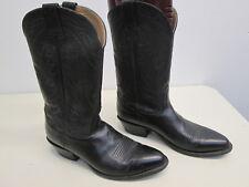 EUC! Nocona Cowboy Boots Western Black Leather men's 9D Excellent condition USA!