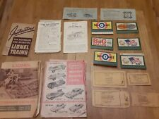 Lionel Train Catalogues & Instruction Manual & Other Literature 1960'S (Used).