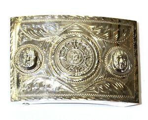 925 sterling silver Belt Buckle 60.1g estate vintage antique rare
