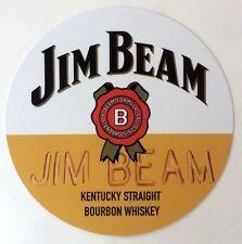 "Jim Beam Kentucky Straight Bourbon Whiskey 7"" Metal Sign - New - Free Shipping"
