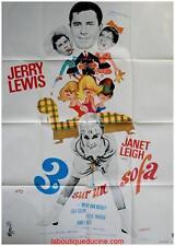 TROIS SUR UN SOFA Three on a couch Affiche Cinéma / Movie Poster JERRY LEWIS