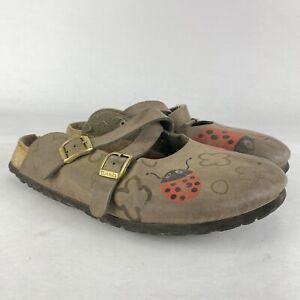 Birkenstock Birkis Ladybug Clogs Size 40 woman's Brown 9-9.5 US