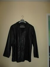 ladies black classic leather jacket in good used condition