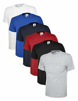 Uneek Mens Olympic T Shirt Casual Work Uniform Crew Neck 100% Cotton Tee (UC320)