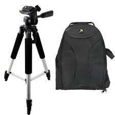"57"" Tripod + Padded Backpack for Nikon, Canon SLR Cameras/Camcorders"