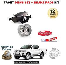 FOR MITSUBISHI L200 BARBARIAN 2.5DT DID 2006> FRONT BRAKE DISCS SET + DISC PADS