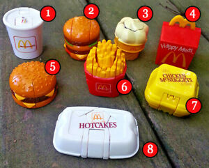 MCDONALDS 1990 MCDINO CHANGEABLES ROBOTS-DINOSAURS TOYS (PICK YOUR FAVORITES)