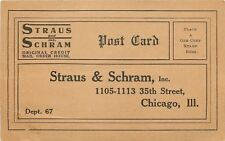 Chicago Illinois~Straus & Schram Credit Mail Order House~35th Street~1940s Sepia