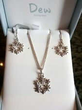 Sterling Silver, Kit Heath Earrings and Pendant Set. Brand new in box.