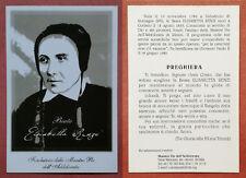 Santino Holy Card: Beata Elisabetta Renzi
