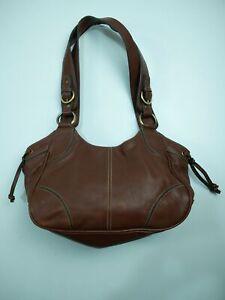 WOMENS KENAR BROWN LEATHER SMALL CLUTCH GRAB BAG HANDBAG MESSENGER SHOULDER BAG