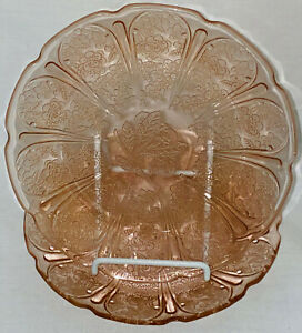 """2 Jeannette CHERRY BLOSSOM PINK *7"""" SALAD PLATES"""