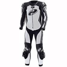 Combinaisons de motocyclette blancs en cuir
