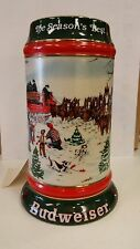 BUD 1991 SIGNED HOLIDAY STEIN THE SEASON'S BEST