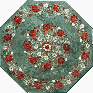 27 Inches Marble Center Table Mosaic Art Coffee Table Top from Art and Crafts