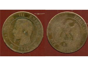 FRANCE  FRANCIA  10 centimes NAPOLEON III   1856 B  ( 2 )