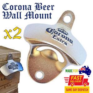2 PACK Corona Wall Mount Bottle Opener Beer Bar Man Cave Decor Gift Australia