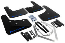 Rally Armor Mud Flaps Blue Logo for 13-19 Ford Fiesta ST # MF29-UR-BLK/BL