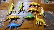 Vintage 1985 Imperial Brontosaurus Lot Of 8 Dinosaur Toys - Tyrannosaurus