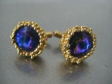 Handcrafted Vintage Retro 60's 70's Gold Tone Cufflinks