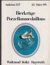 Vente aux enchères 157 1986 bierkrüge, porcelaine médaillon Waltraut Boltz Bayreuth