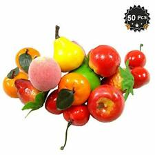 50 Pcs Frutas Artificiales Decorativas Para La Cocina Del Hogar Decoracion