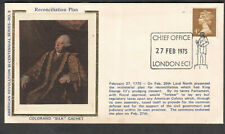 England 1975 Colorano slk Fdc first day cachet cover reconciliation plan London