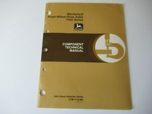 John Deere 4050 4250 4450 4650 4850 tractor FWD axles technical manual CTM-17