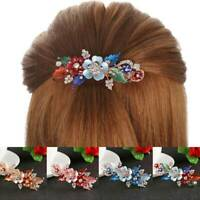 Women's Bridal Flower Barrettes Pins Clips Slide Hair Accessories Wedding Party
