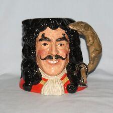 Royal Doulton Large size character jug D6974 Captain Hook CJY1994 certificate #1