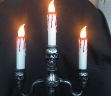 "Tall Halloween CandelabraCandle Holder With Battery Lighted Candles 14-1/2""Tall"