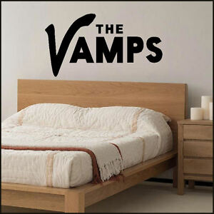 EXTRA LARGE THE VAMPS LOGO IN MATT VINYL WALL STICKER  5 SIZES A4 A3 UPTO 1.6M