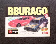 I018-Advertising Pubblicità-1987- BBURAGO , PORSCHE 959 LANCIA DELTA S4