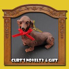 Dachshund Resin Christmas Ornament Dog K9