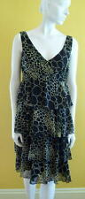 JONATHAN MARTIN Sz 8 Sleeveless TIERED Dress M Medium Polyester
