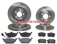VW GOLF MK4 (98-04) 1.4 1.6 1.9 SDi FRONT and REAR BRAKE DISCS AND PADS SET