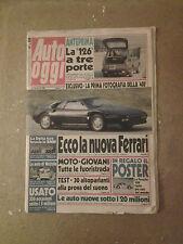 Auto Oggi - 11 Dicembre 1986 - Anno I - N.1