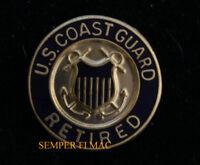 US COAST GUARD RETIRED LAPEL HAT PIN UP USCG VETERAN GIFT Semper Paratus ANCHOR