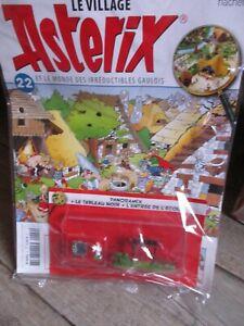 Astérix village&Hachette-Collector,Panoramix,tableau,entrée école&Fascicule-N22