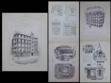 ORAN, RUE BENSENOUCI - 1900 - GRAVURES ARCHITECTURE, GEORGES ROUX