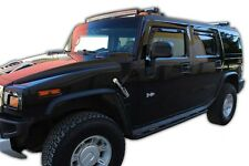 Window Deflectors visors rain guards for Hummer H2 2003 - 2010 In-Channel