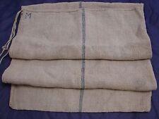 "Vintage hemp feed, grain sack indigo blue stripe 44"" x 20"""