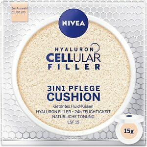 Nivea Hyaluron Cellular Filler 3in1 Pflege Cushion 15 g, Make-Up LSF15