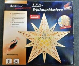 CHRISTmaxx LED Weihnachtsstern mit aufwendigen Schnitzereien!