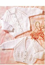 """Knitting Pattern Premature Baby Cardigan *COPY* PATTERN ONLY 12-20"""" 4-ply/DK p84"""