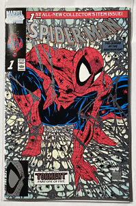 Spider-Man #1 - RARE - Todd McFarlane - Platinum Edition - FN - With Letter