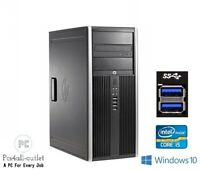 Fast HP 8300 CMT Quad Core i5 Windows 10 Pro PC 16GB RAM 2TB HDD SSD WIFI USB3